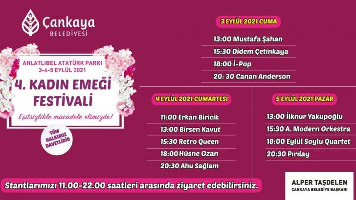 4'üncü Kadın Emeği Festivali 3 Eylül'de başlıyor