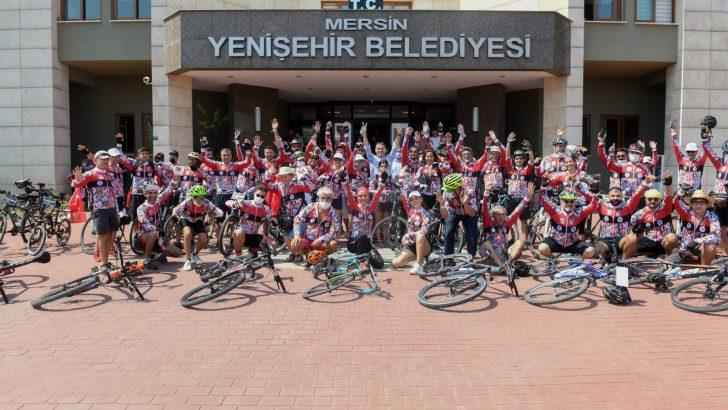 80 şehirden bisikletçi Mersin Yenişehir'de buluştu
