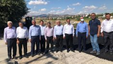AK Parti heyeti köy grup yollarında incelemelerde bulundu