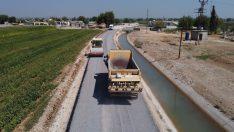 Akçakale kırsalında asfalt çalışması