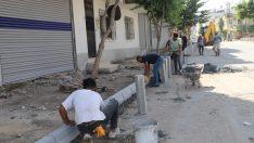 Akdeniz ilçesinde asfalt ve kaldırım çalışmaları sürüyor