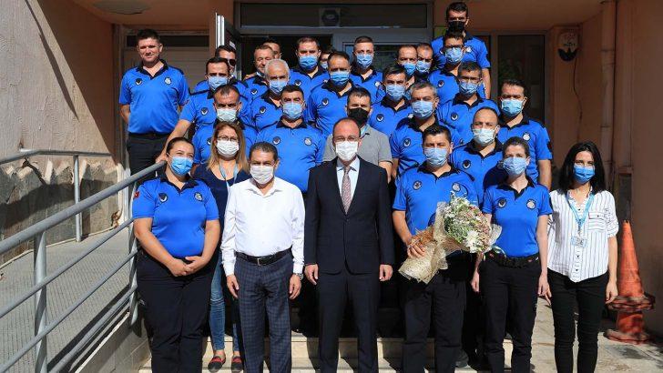 Başkan Örki, Zabıta Müdürlüğünü ziyaret etti