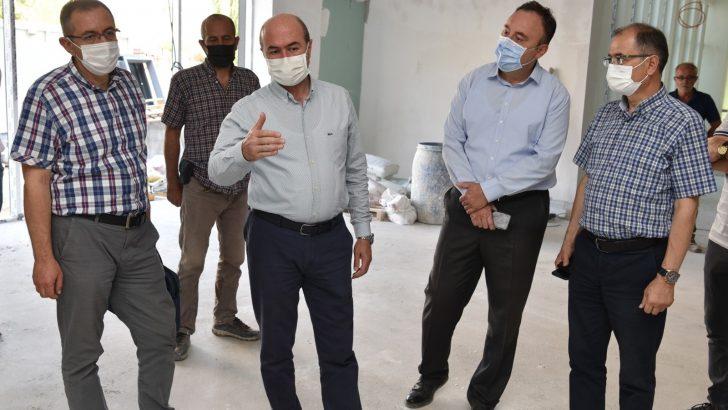 Başkan Pekyatırmacı, Bosna Hersek Mahalle Konağı inşaatını inceledi