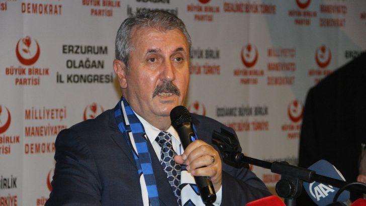 """BBP Genel Başkanı Destici: """"Akşener'den hem Türk milleti adına hem de Fatih Sultan Mehmet'in manevi şahsiyetinden bir özür bekliyoruz"""""""