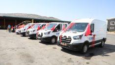 Daha seri hizmet için Melikgazi 10 adet araç satın aldı