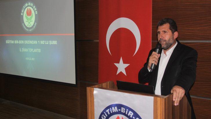 """Eğitim-Bir-Sen Erzincan Şube Başkanı Gül: """"Öğretmenlere zorunlu PCR testi yapılmasını doğru bulmuyorum"""""""