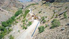 Ekonomiye yıllık 11,8 milyon TL katkı sağlayacak Akçadağ Taşevler Sulaması inşaatı devam ediyor