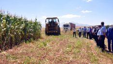 Karaman DSYB'nin hizmete aldığı biçerdöver ilk hasadını törenle yaptı