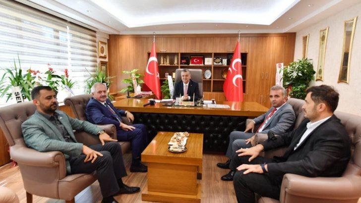 Nursaçan ve yönetim kurulu üyeleri MHP İl Başkanı İncetoprak'ı ziyaret etti