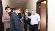 Rektör Karamustafa, KAYÜ Yeşilhisar Fuat Sezgin kampüsünde incelemelerde bulundu
