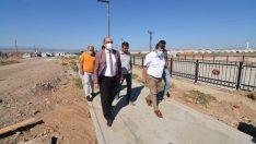 Sandıklı'da 'Millet Bahçesi' projesi inşaat çalışmaları devam ediyor