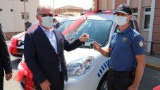 Sivas Belediyesinden polise araç desteği