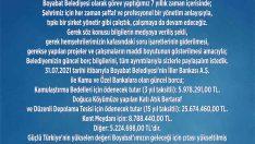 Boyabat Belediyesi güncel borç rakamlarını açıkladı