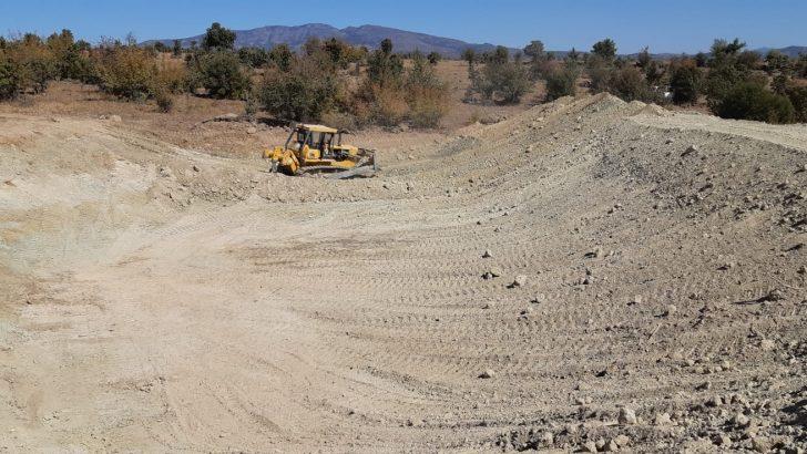 Demirci'de HİS göleti yapımlarına devam ediliyor