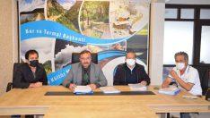 Emet'in 60 yıllık alt yapı ve içme su sorununun çözümü için imzalar atıldı