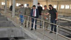 Kaymakam Özdemir içme suyu arıtma tesisinde incelemelerde bulundu