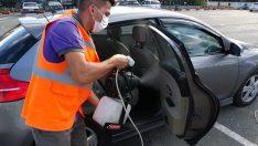 Ordu'da 30 bini aşkın araç ücretsiz dezenfekte edildi