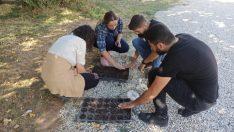 Organik tarım öğrencileri uygulamalı derslere başladı