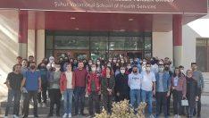 Üniversite öğrencilerine afetlerde sağlık hizmetleri eğitimi verildi